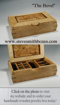 How To Make A Wooden Jewelry Box Beauteous Custom Made Custom Wood Jewelry Box  Box's & Trunks  Pinterest Design Decoration