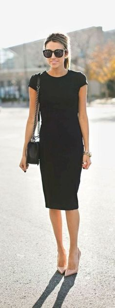 Trendy business casual work outfit for women 15 Summer Business Outfits, Business Casual Outfits For Women, Cool Summer Outfits, Casual Work Outfits, Work Casual, Classy Outfits, Modern Outfits, Work Outfits Office, Casual Black Dress Outfit