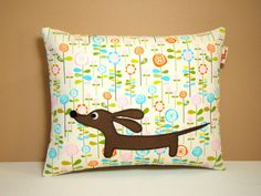 Dachshund Pillow  Doxie in the Whimsical by persnicketypelican, $18.00