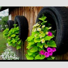 Use of old tires great idea