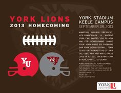 Come on out and cheer your #YorkULions on Saturday, September 28!!! #LionPride #Football #Toronto