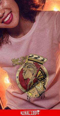 The Most Powerful Black Girl Magic Shirt Design You'll Love Beautiful Black Girl, Black Girl Art, Black Girl Magic, Afrocentric Clothing, Unique T Shirt Design, Culture T Shirt, Cool Graphic Tees, Black Artwork, Magic Art
