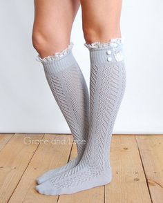 Shark Tank Boot Socks From Grace And Lace - The Hottest Lace Boot Socks Lace Boot Socks, Boot Cuffs, Steampunk Boots, Hunter Boots Outfit, Fall Outfits, Cute Outfits, Grace And Lace, Fashion Socks, Emo Fashion
