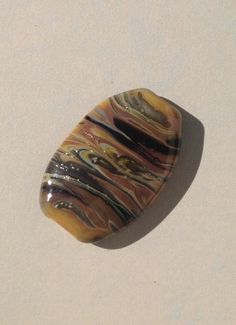 Rock Roads - Lampwork focal bead £3.00