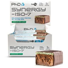 PhD Nutrition Synergy ISO-7 Bars | PhD Nutrition - Official Trade Sports Nutrition Distributor | Tropicana Wholesale
