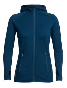04cd1a27a0d4 FEATURES of the Icebreaker Women s Atom Long Sleeve Zip HoodieSoft chin  guard prevents chafingSecure zippered front hand and sleeve stash  pocketsDrop tail ...