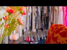 Colorful closet tour