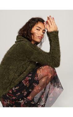 Sweter z golfem, Swetry, zielony, RESERVED