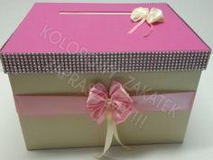 Kopertówka ecru-różowa, pas diamentowy