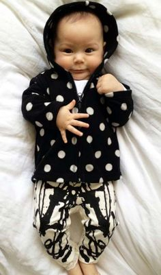 It is true that babies can wear almost anything and be cute. Dress Your Little One With 23 Adorable Baby DIYs via Brit + Co.