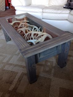 DIY!!! Shadow box coffee table!