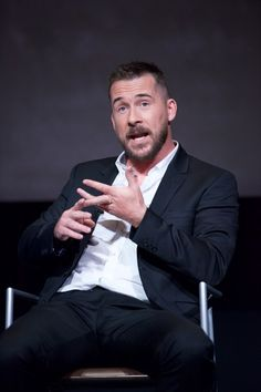 """Barry Sloane Photos - Actor Barry Sloane speaks onstage at the FYC Event for HISTORY's """"SIX"""" at Wolf Theatre on May 9, 2017 in North Hollywood, California. - FYC Event for HISTORY's 'SIX'"""
