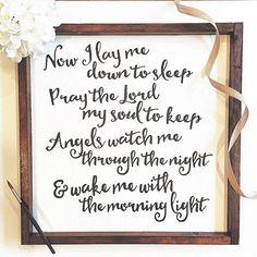 Now I Lay Me Down To Sleep Nursery Sign Prayer by TheSaviDesign