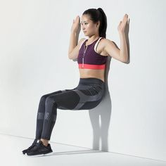 This Challenging Legs and Abs Workout Uses a Wall as the Only Equipment | Shape Magazine