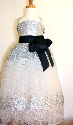 Sequined Flower Girl Dress - Dolores Petunia