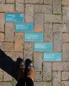 Walking on Words, a site-specific ceramic paving intervention on the occasion of the International Poetry Festival Dancing in Other Words.