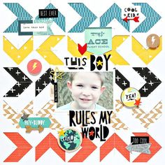 Cool Kid Collection Layout Inspiration