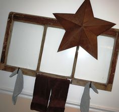 chores and chandeliers: window towel holder