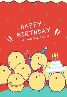 #Birthday #Card Free #Printable One Hip Chick Greeting Card