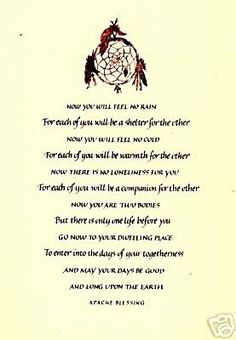 Native american wedding ceremony vows