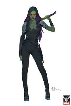 ArtStation - The Guardians, Brian Matyas Marvel Women, Marvel Girls, Marvel Art, Marvel Characters, Female Characters, Fantasy Characters, Female Character Design, Character Art, Character Ideas