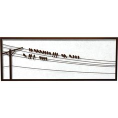 Bird On a Wire Decor   Bird on a Wire Outdoor Wall Decor