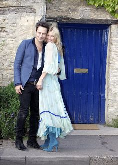 Kate Moss and Jamie Hince Pose for Photos