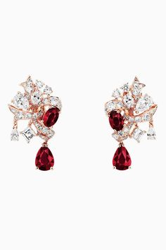 "DIOR. ""Ruban Rubis"" earrings in pink gold and diamonds. #DIOR #DIORÀVersailles… http://amzn.to/2sdVKkh"