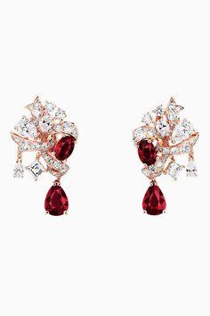 "DIOR. ""Ruban Rubis"" earrings in pink gold and diamonds. #DIOR #DIORÀVersailles…"