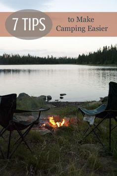 7 tips to make camping easier via Tipsaholic.com #camping #summertime #campingtips