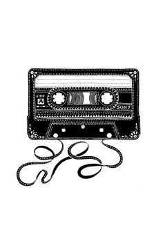 Cassette Tape Vector Art Wallpapers Luxury Vintage Series sony Cassette Tape by Handmade by Radhika - Ezba Wallpaper Indian Folk Art, 13 Reasons, Art Design, Zentangle, Vector Art, Pop Art, Art Drawings, Graffiti, Illustration Art