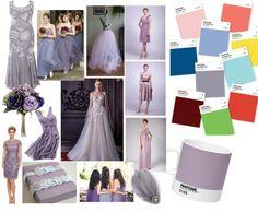 polymer design palette by High Gloss Weddings www.highglossweddings.com Pantone 2016, Design Palette, Bridal Show, High Gloss, Wedding Blog, Wedding Decorations, Purple, Grey, Flowers
