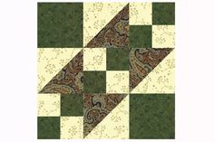 Rocky Road to California Quilt Block Pattern