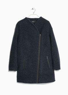 Cappotto cocoon lana - Cappotti da Donna | MANGO