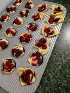 The perfect appetizer for any holiday soiree! Cranberry Brie Bites on sheworeembellishments.com . . . . . . . #food #foodie #appetizerrecipe #ThanksgivingRecipes #thanksgiving #christmas #christmasrecipe #recipes #recipe Cold Party Appetizers, Appetizers For Party, Appetizer Recipes, Brie Bites, Thanksgiving Menu, Finger Foods, Holiday Recipes, Tapas, Sweet Treats