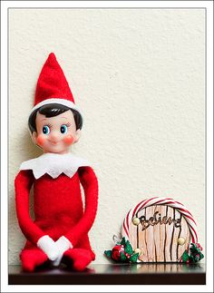 Make a little Elf door for your Elf on the Shelf to get into the house every night.