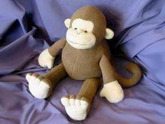 FINALLY a free monkey pattern!! And other stuffed animal patterns.