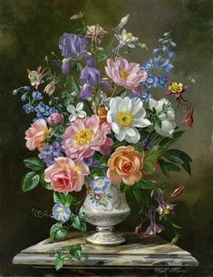 Artwork by Albert Williams, Summer Bouquet, Made of Oil on canvas