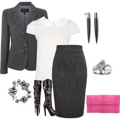 """""""Law school"""" by borntoread on Polyvore>>> this is the *exact* outfit I wear to class."""