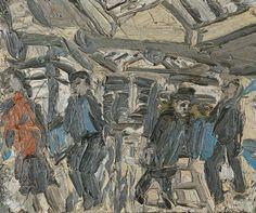 Visto Museo Thyssen 23/10/13 Leon Kossoff Taquillas de metro. Estación Kilburn n.º 1 1976
