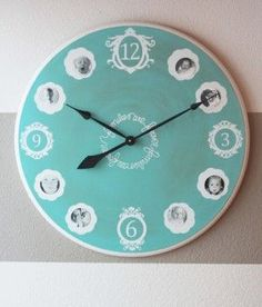 Over 25 DIY Gift Ideas for Grandparents. diy clock with family pictures Grandparents Day Gifts, Grandparent Gifts, Grandpa Gifts, Unique Christmas Gifts, Christmas Diy, Christmas Presents, Holiday Gifts, Picture Clock, Photo Clock