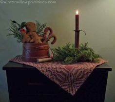 ~ Winter Willow Primitives ~ Under The Willow ~: ~ Christmas Decorating ~ part 1