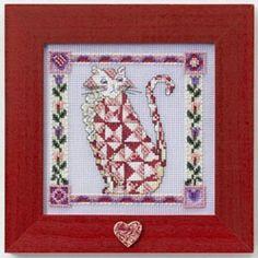 Cross Stitch Kit- Scarlet Cat