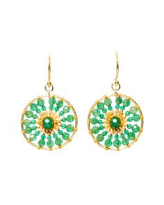 Chan Luu Indian Adventurine Earrings
