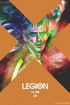 Legion I Am Legion, Legion Fox, Serie Marvel, Marvel Dc Comics, Most Popular Tv Shows, Dan Stevens, Days Of Future Past, Fan Picture, Poster