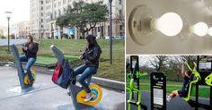 Una #bicicleta permite generar #energía eléctrica a partir del ejercicio.