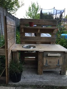 Mud kitchen made for my daughter.