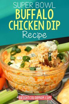 Bufflo Chicken Dip, Buffalo Chicken Dip Recipe, Rotisserie Chicken, Cream Cheese Chicken Dip, Healthy Buffalo Chicken Dip, Buffalo Cauliflower, Dip Recipes, Light Recipes, Chicken Recipes