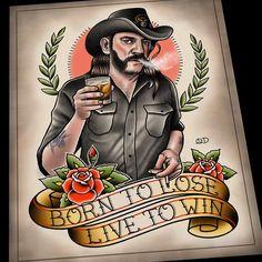 Born to Lose. Live to Win. #motorhead #lemmykilmister #rocknroll #etsy…