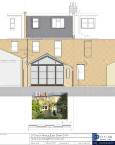 Planning Granted! rear extension to terraced house in East Sheen that extends 3.8m from rear wall the compromise is keeping it low on the side that does not already have a back wing, but symmerty is restored by having the glass apex offset and finally getting to do Crittal syle doors that are so trending at the moment